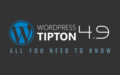 All You Need to Know About WordPress 4.9 Tipton